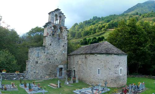 The Templiers church in Aragnouet