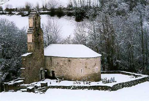 The Templiers church in Aragnouet near Saint Lary