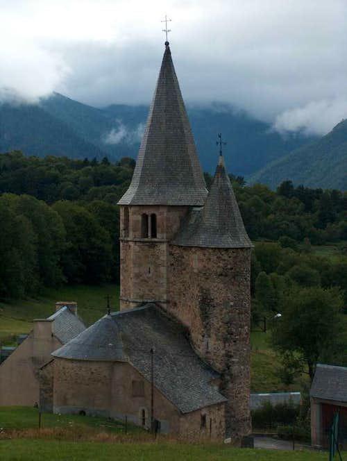 Lançon church, near Saint Lary