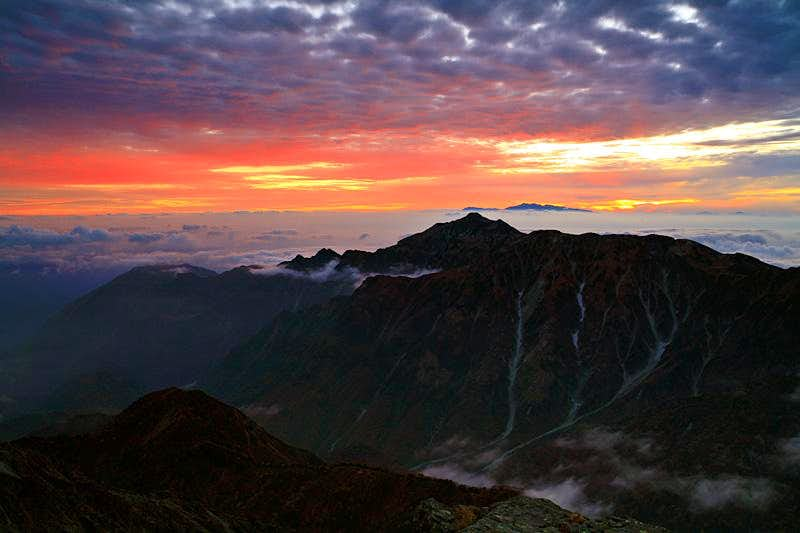 Sunset in Japanese Alps