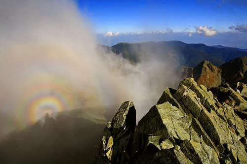 A Brocken Spectre from Karasawa-dake