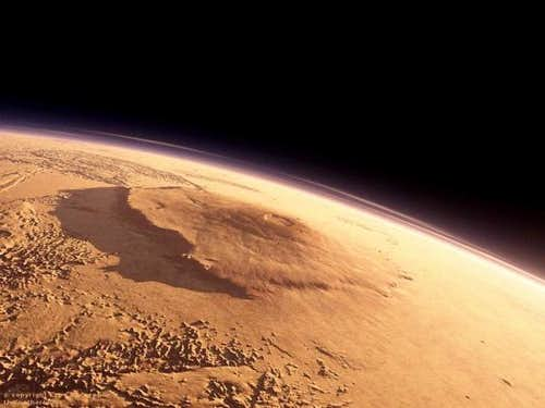 Olympus Mons from orbit.