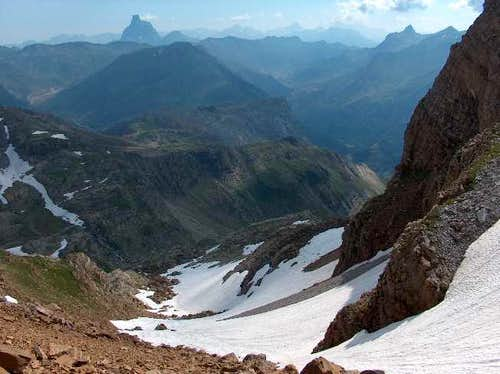 Ossau from Pic d\'Aspe
