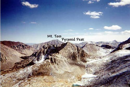 Pyramid Peak from Mt. Mills,...