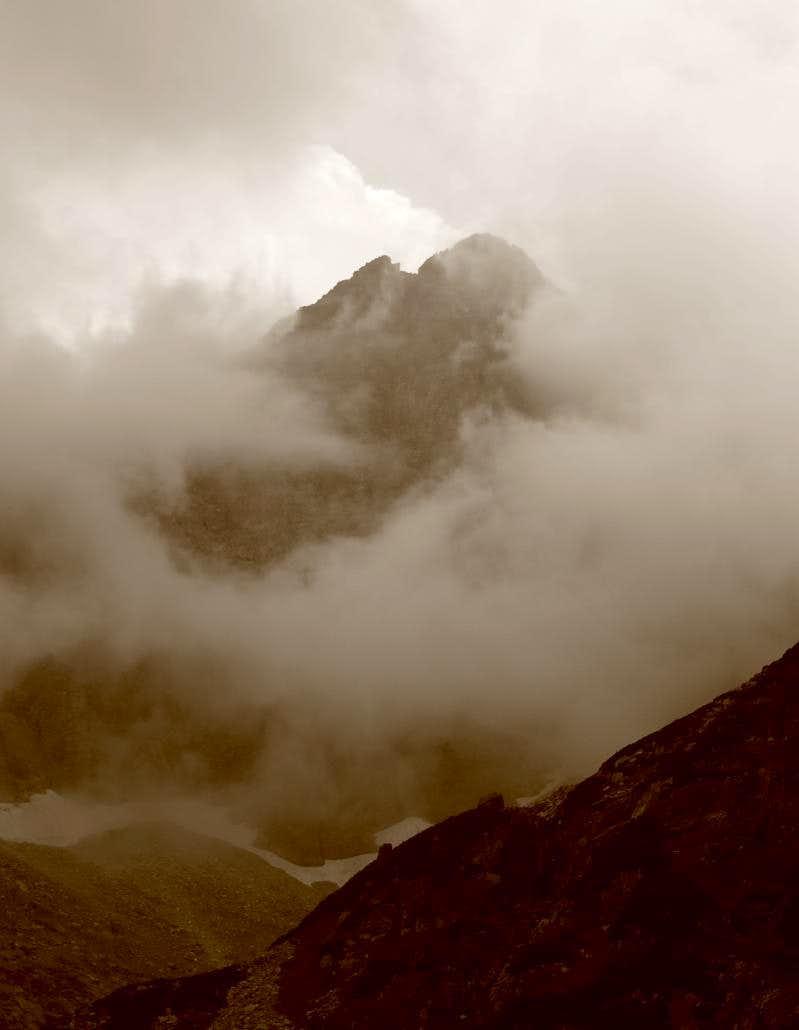 Vysoka in clouds