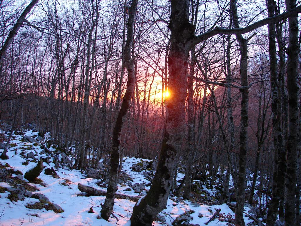 Sunrise in Aizkorri