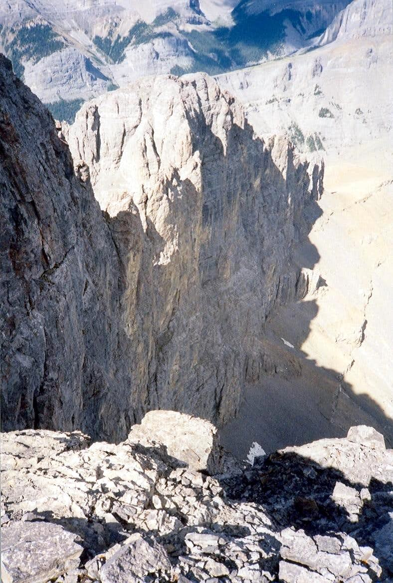 West summit and North face of West Ridge