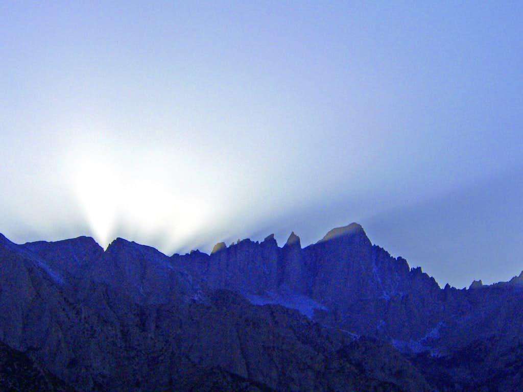 Light play over Mt. Whitney