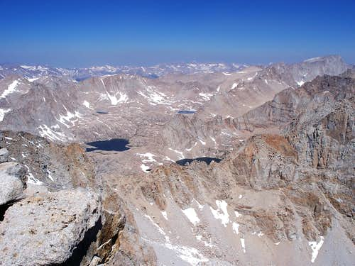 View from the summit of Mt. Langley