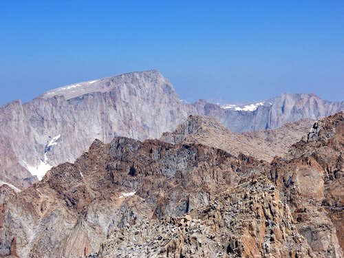 Mt. Whitney & Mt. Russell viewed from the summit of Mt. Langley
