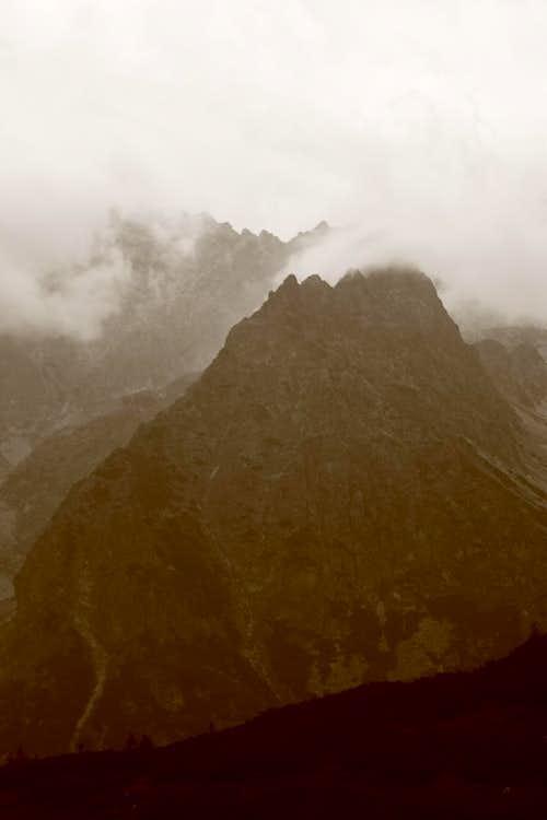 Hruba Veza in clouds