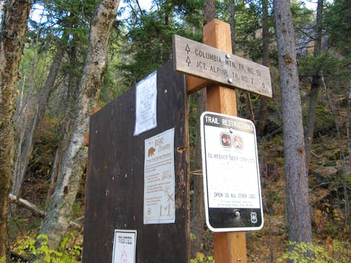 Columbia Mountain Trailhead