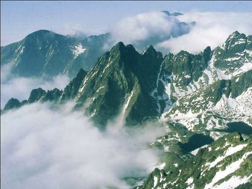 View from Lomnicky Stit 2632m...