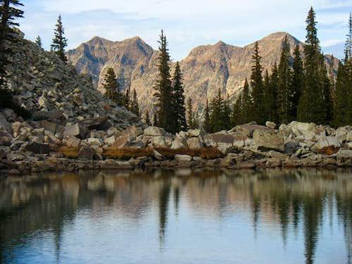 Peaks behind Maybird Gulch
