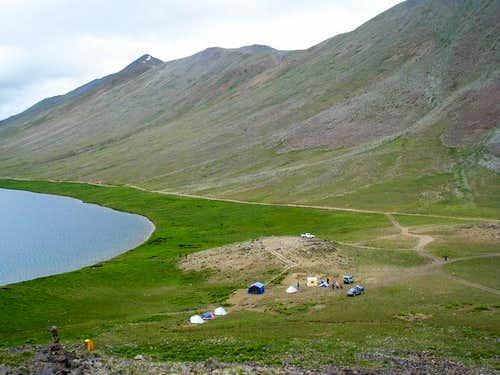 Camping at Sosar Lake
