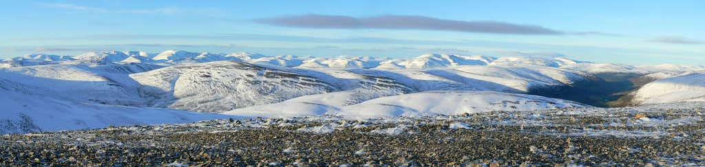 Snow covered Cairngorms