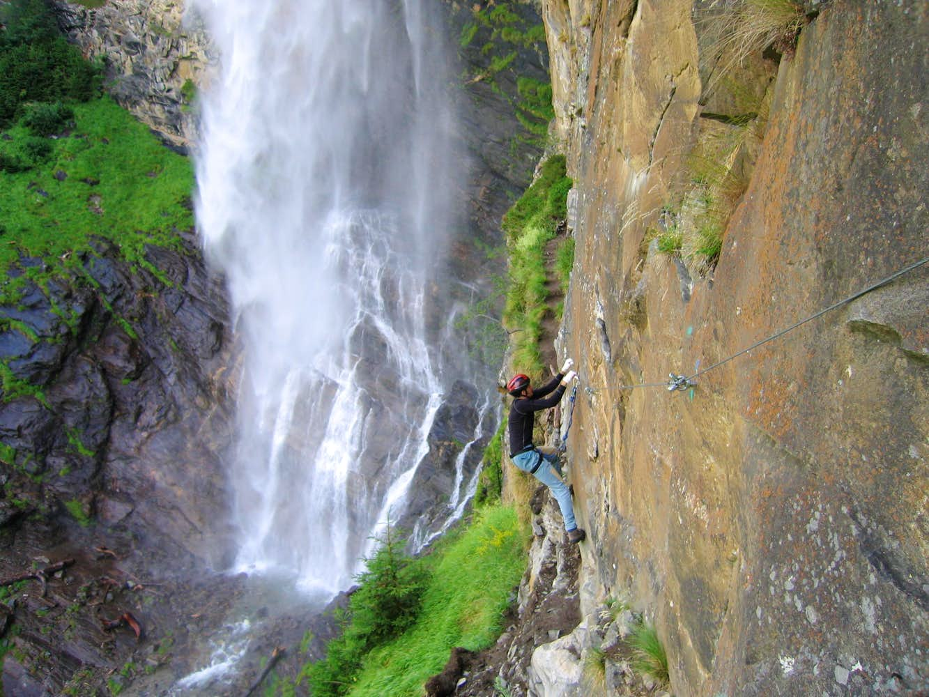 Klettersteig Fallbach : The first difficulties on fallbach klettersteig : photos diagrams