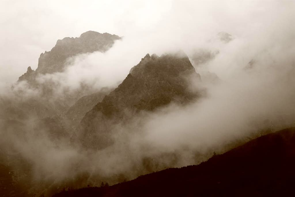 Mountains in storm