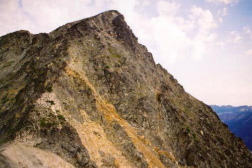 Looking up at Kitling Peak...