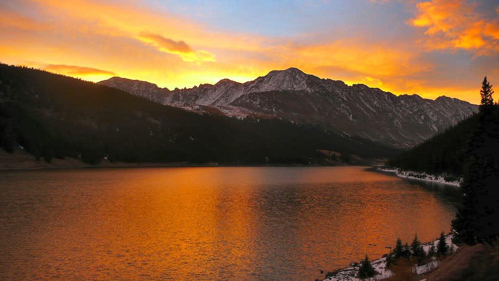 Sunrise over Drift Peak