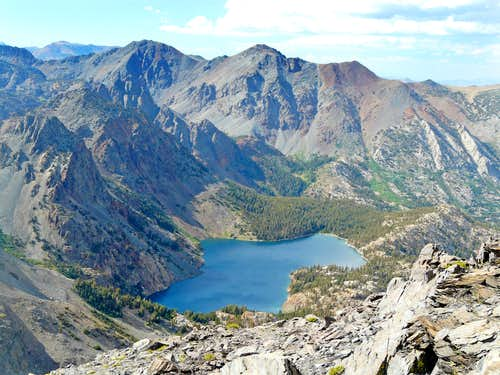 East Lake and the Monument Crest from Peak 11,568\', Hoover Wilderness