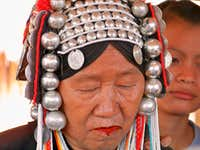 Akha Hill Tribe Woman, Northern Thailand