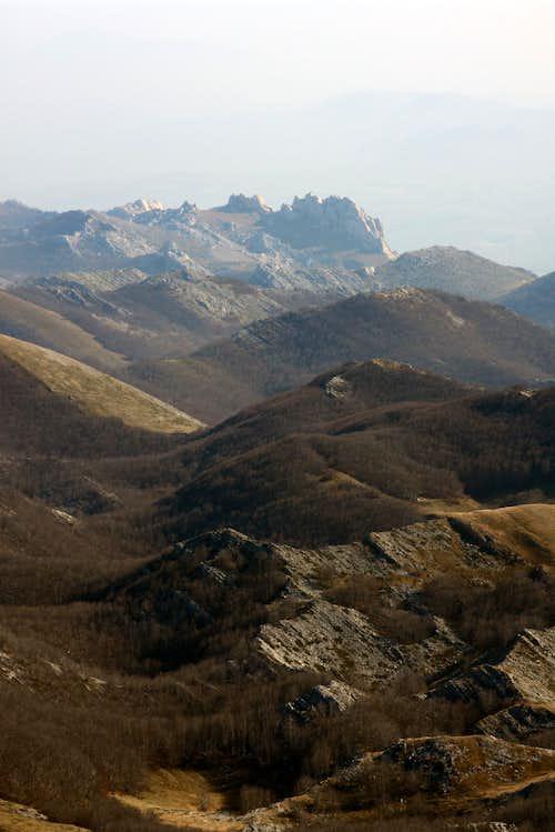 Tulove grede from Sveto brdo summit
