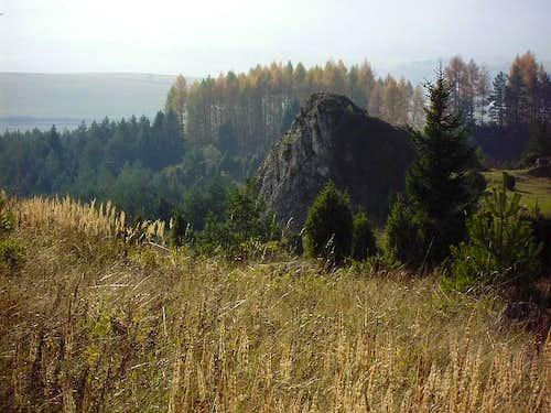 Limestone rock on Vabec