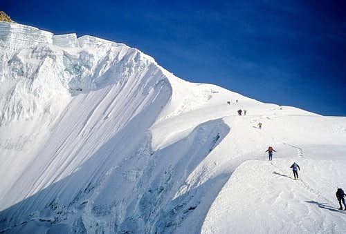 The ridge of normal route