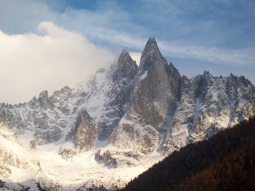 Aiguille Verte and Dru