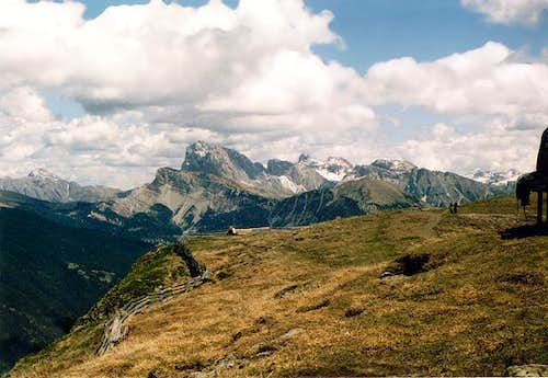 Peitlerkofel (far left) and...