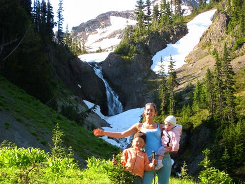 Gena n Kids in Upper Royal Basin