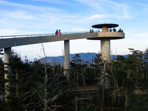 Great Smoky Mtn NP - Walking up to Clingmans Dome Tower