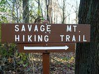 Savage Mountain Hiking Trail Sign