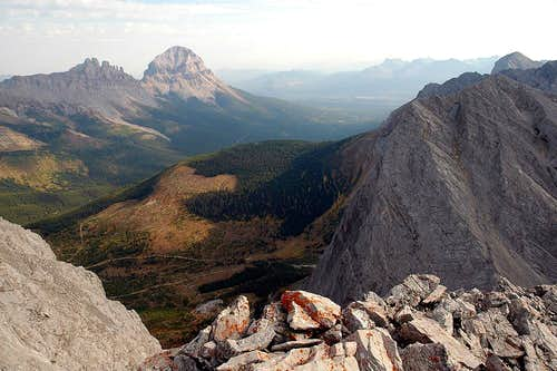 Seven Sisters, Crowsnest Mountain, Window Mountain, and a big honkin\' clearcut