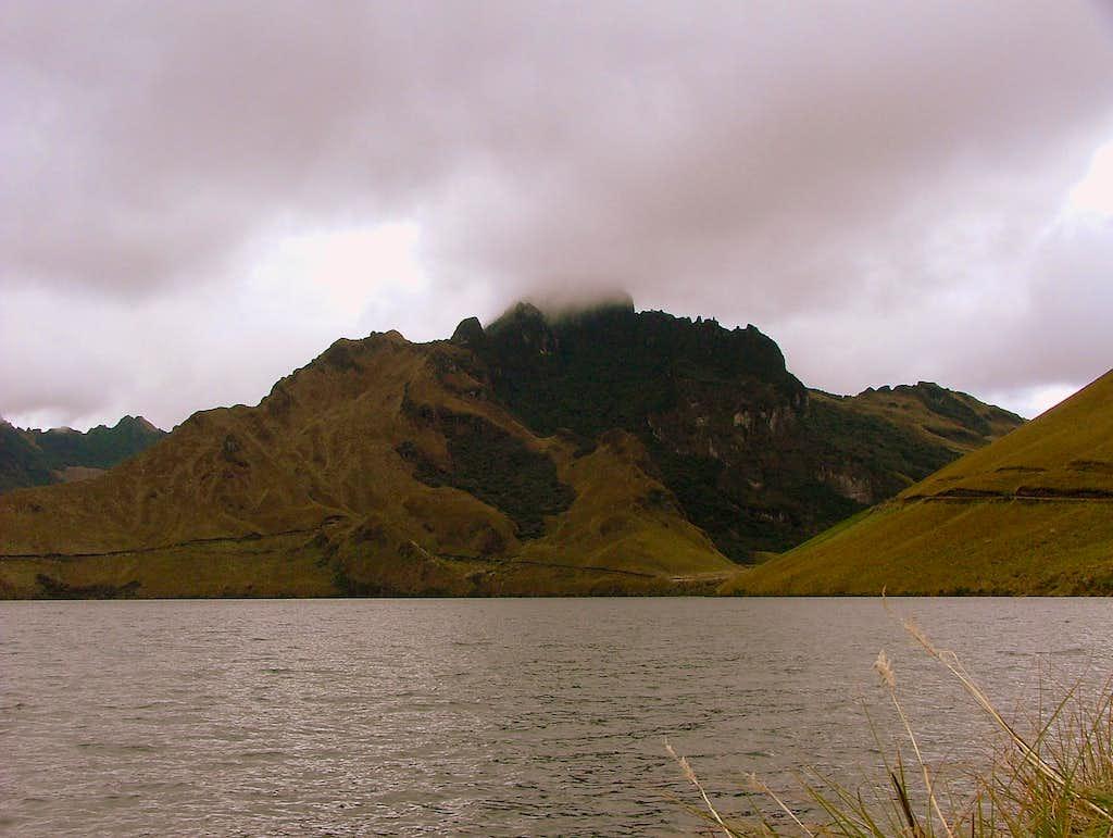 Cerro Negro as seen from Mojanda Lake.