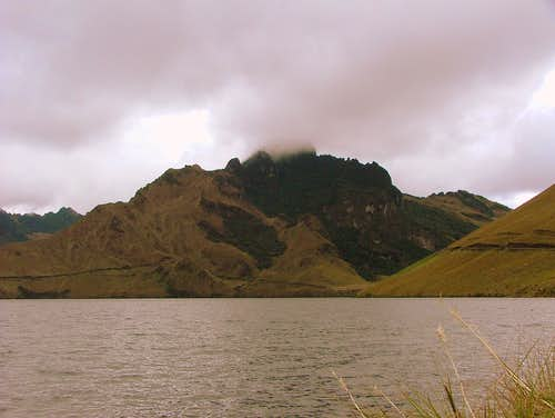 Cerro Negro as seen from Mojanda Lake.
