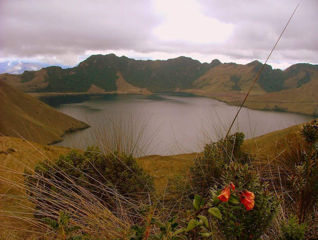 Mojanda Lake.
