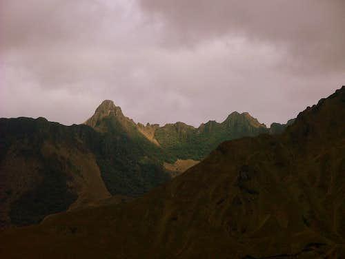 Mojanda's peaks.