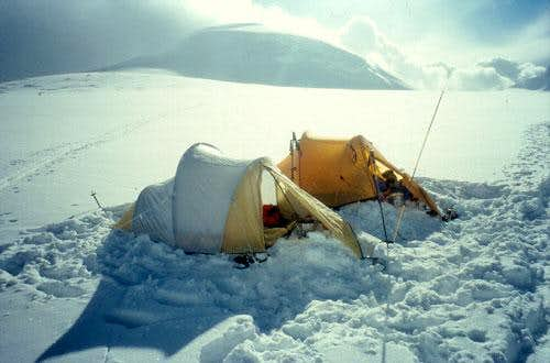 Our camp II at about 6900m...
