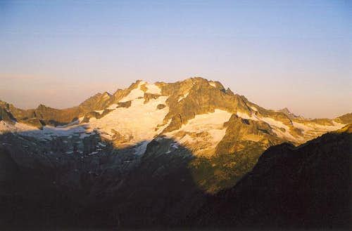 Mt. Logan with morning...
