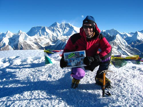 Top of Mera Peak central