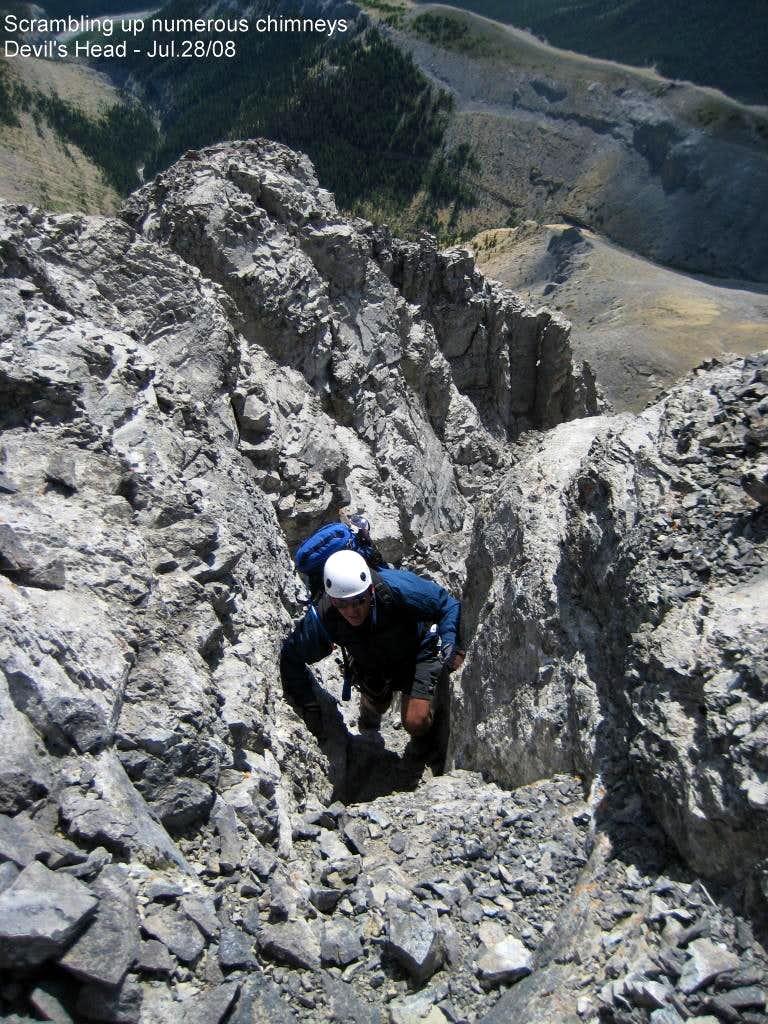 Scrambling gullies on Main Summit
