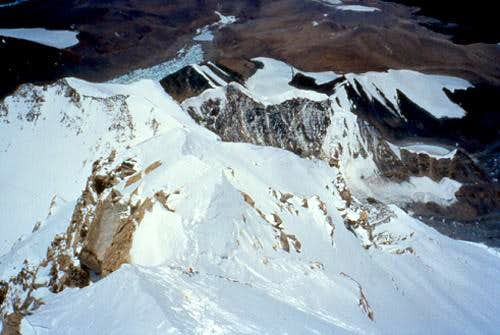 The final ridge to the...