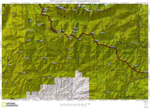 Teanaway Area Topo Map