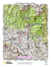 Sweetwater Trailhead access road map