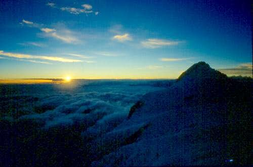 Sunrise at about 7500m. Just...