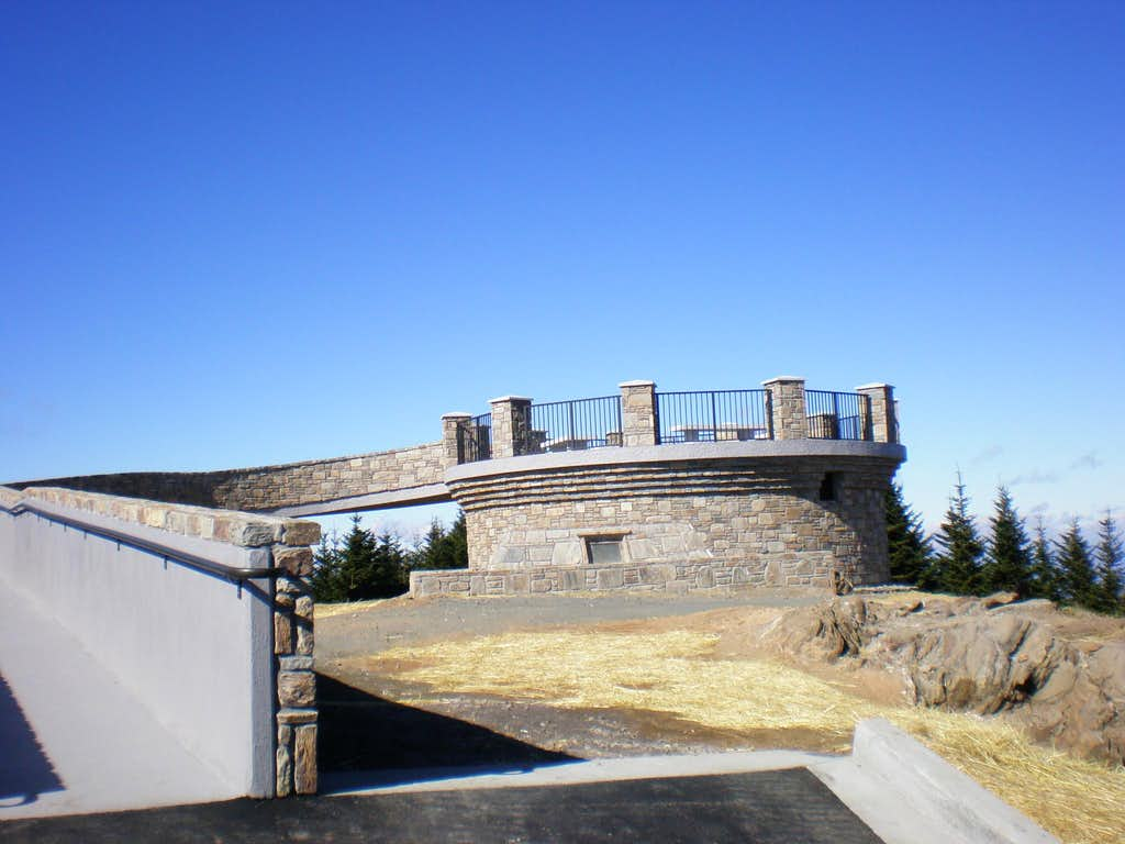 New Summit Tower on Mount Mitchell, NC