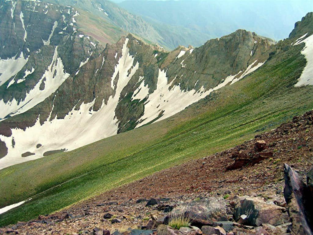 Rocky Sub-Peaks, North Face