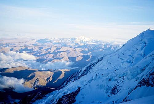 View during ascent of Illimani
